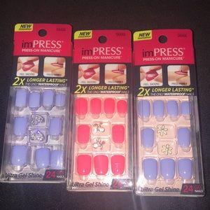 Lot of 3 imPress Nails Brand New